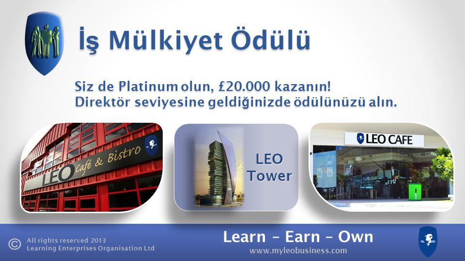 İş Mülkiyet Ödülü LEO Tower Siz de Platinum olun, £20.000 kazanın!