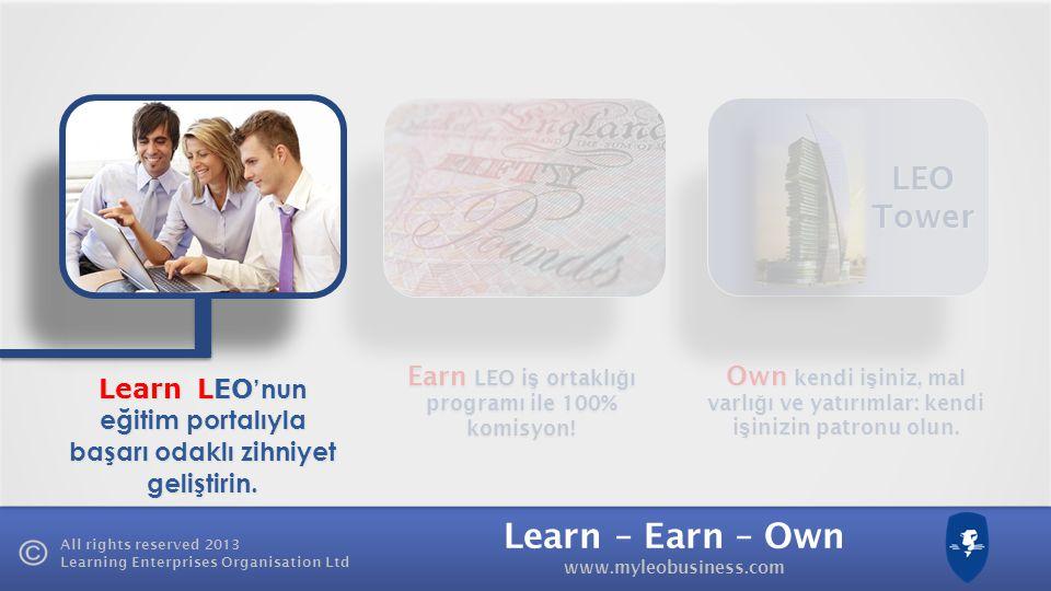LEO Tower Earn LEO iş ortaklığı programı ile 100% komisyon!