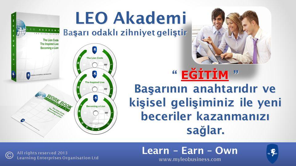LEO Akademi Başarı odaklı zihniyet geliştir.