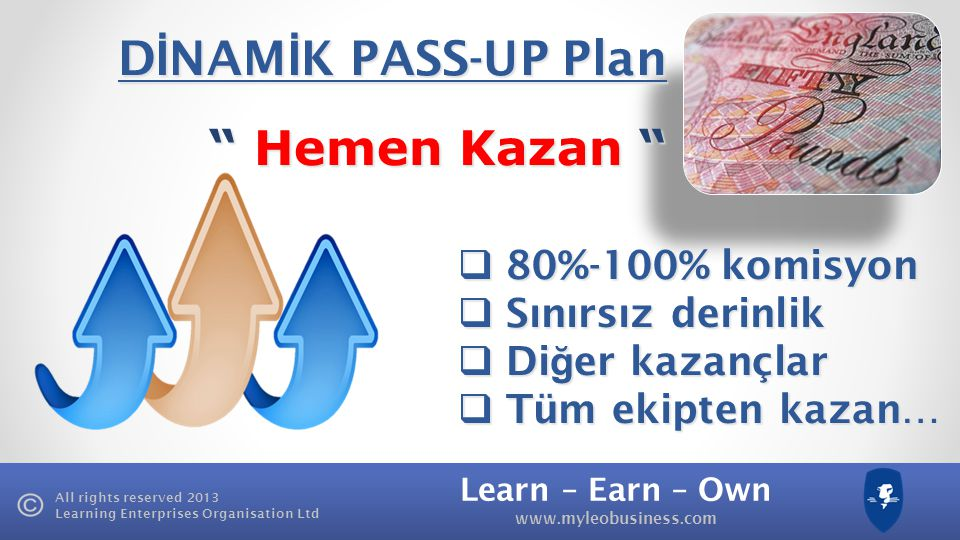 DİNAMİK PASS-UP Plan Hemen Kazan 80%-100% komisyon