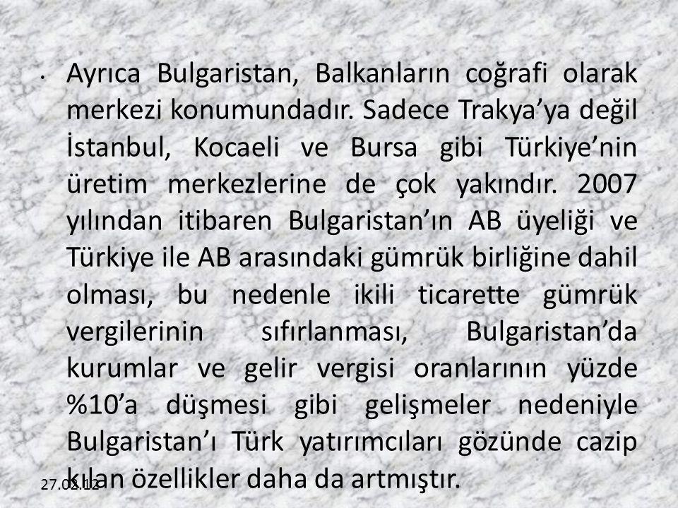 Ayrıca Bulgaristan, Balkanların coğrafi olarak merkezi konumundadır