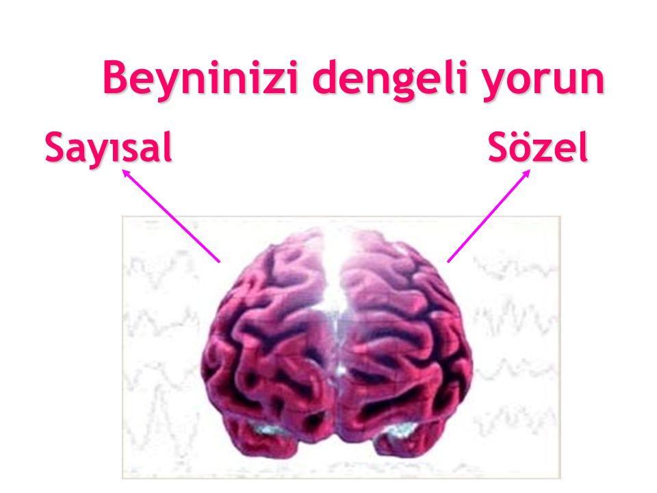 Beyninizi dengeli yorun