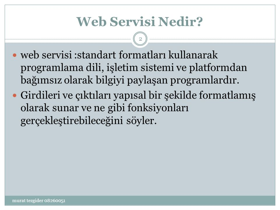 Web Servisi Nedir