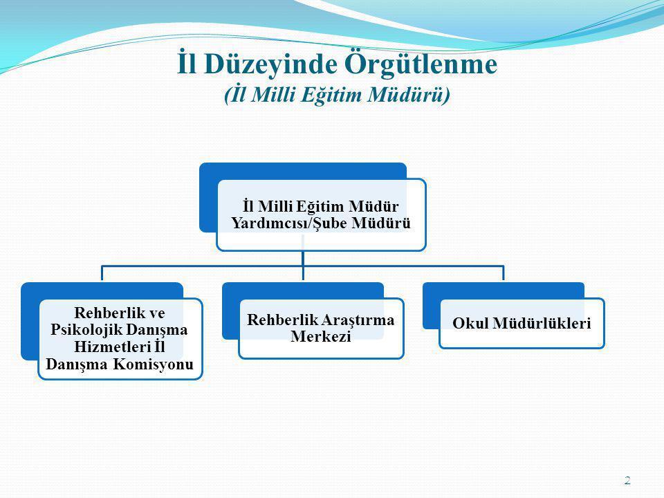 İl Düzeyinde Örgütlenme (İl Milli Eğitim Müdürü)