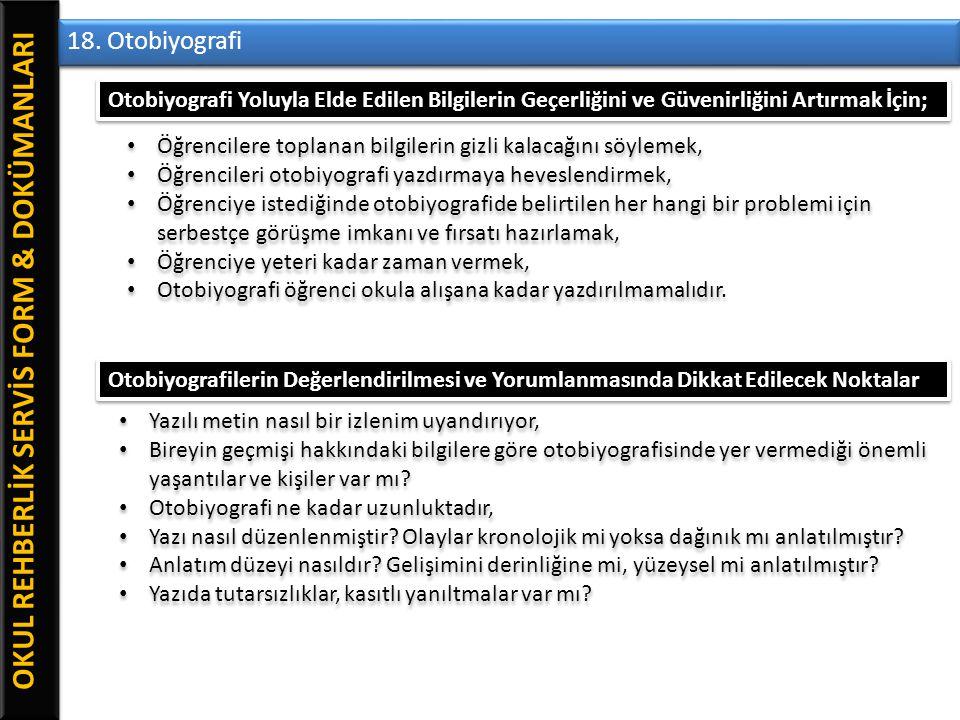 OKUL REHBERLİK SERVİS FORM & DOKÜMANLARI