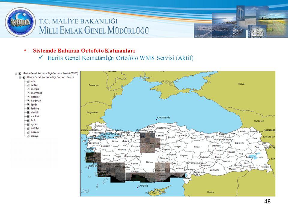 Harita Genel Komutanlığı Ortofoto WMS Servisi (Aktif)