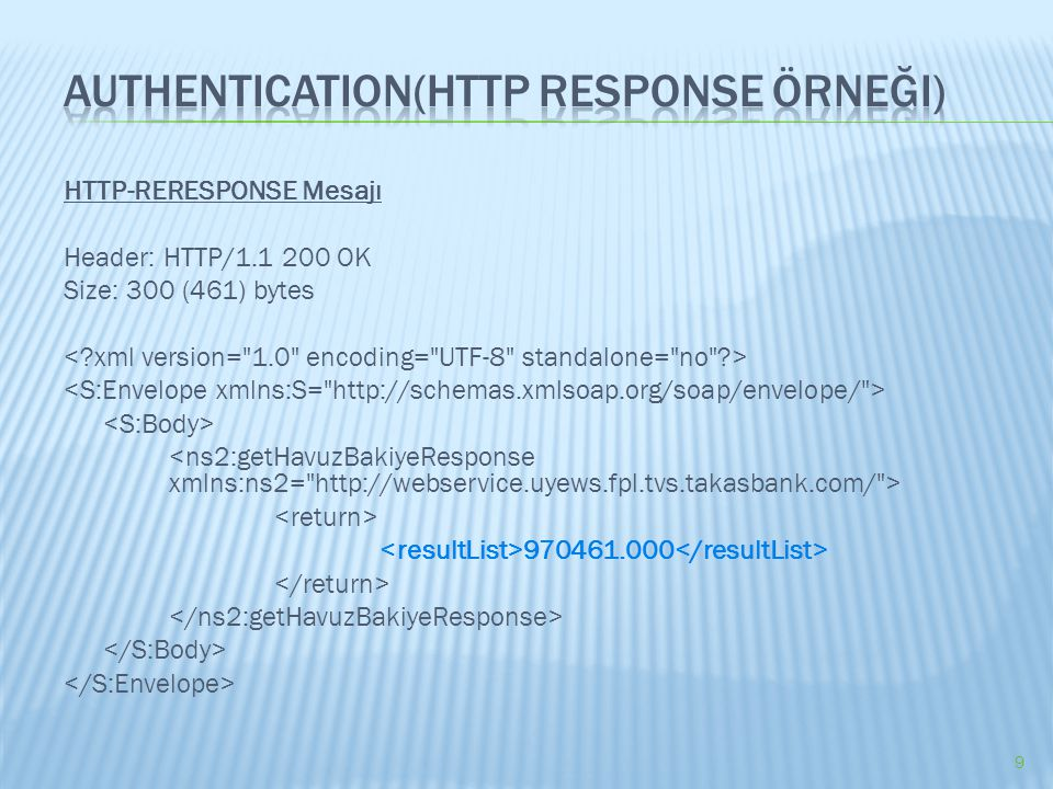 Authentication(HTTP Response Örneği)