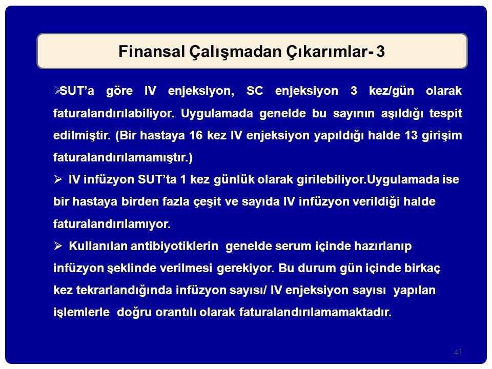 Finansal Çalışmadan Çıkarımlar- 3
