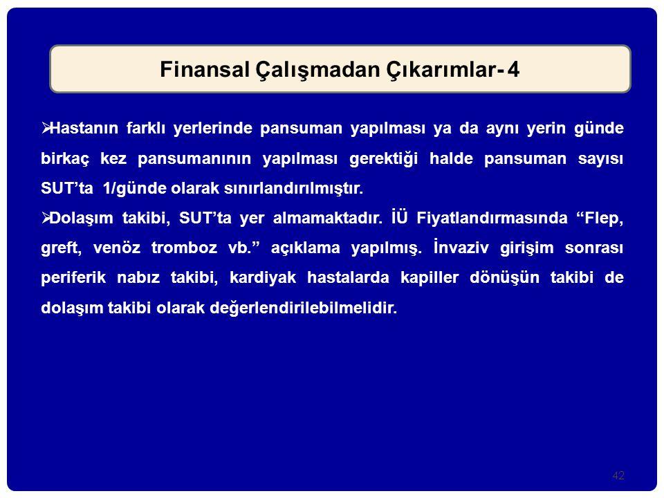 Finansal Çalışmadan Çıkarımlar- 4