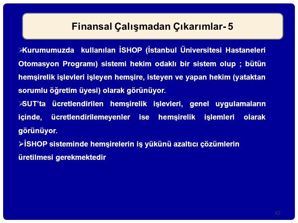 Finansal Çalışmadan Çıkarımlar- 5