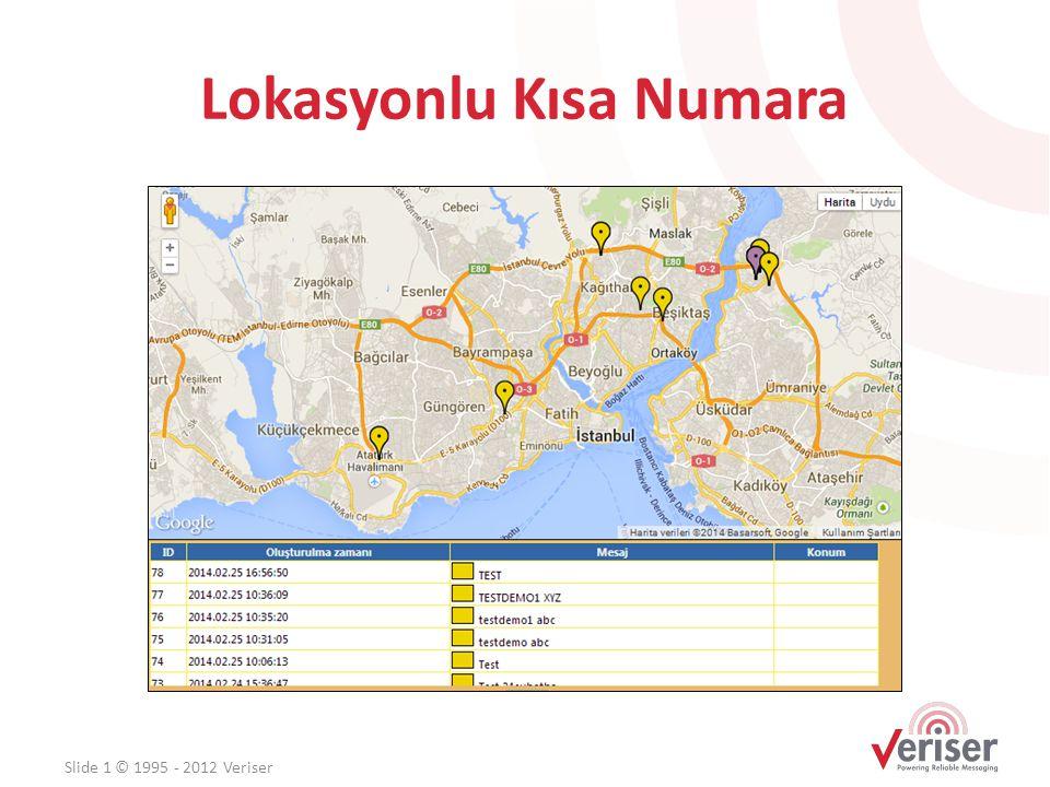Lokasyonlu Kısa Numara