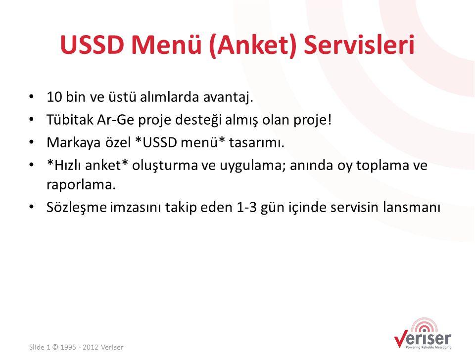 USSD Menü (Anket) Servisleri