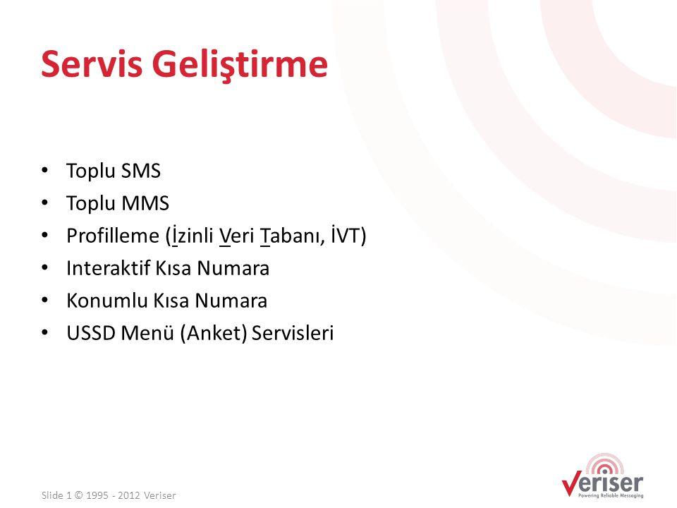 Servis Geliştirme Toplu SMS Toplu MMS