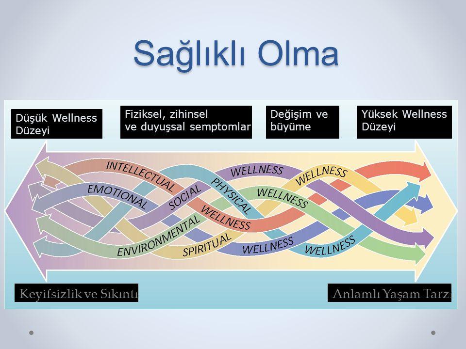 Sağlıklı Olma Figure 1.1 Keyifsizlik ve Sıkıntı Anlamlı Yaşam Tarzı