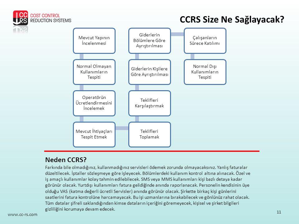 CCRS Size Ne Sağlayacak