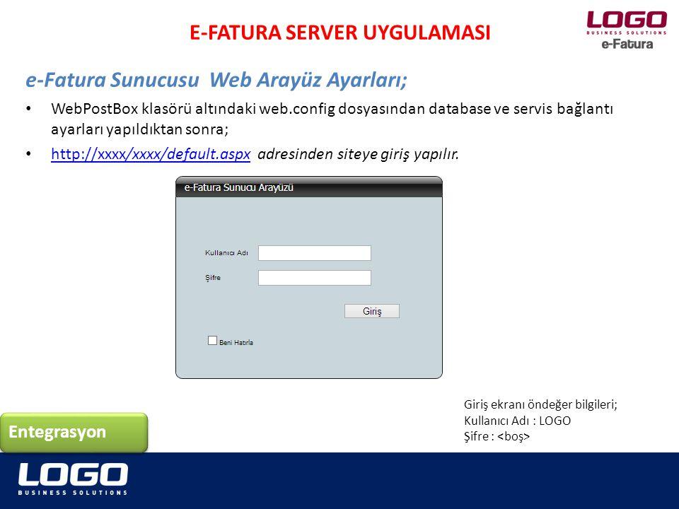 E-FATURA SERVER UYGULAMASI