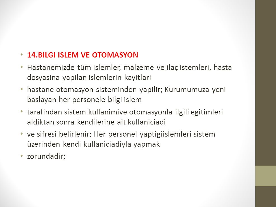 14.BILGI ISLEM VE OTOMASYON