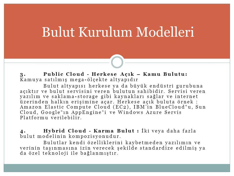 Bulut Kurulum Modelleri