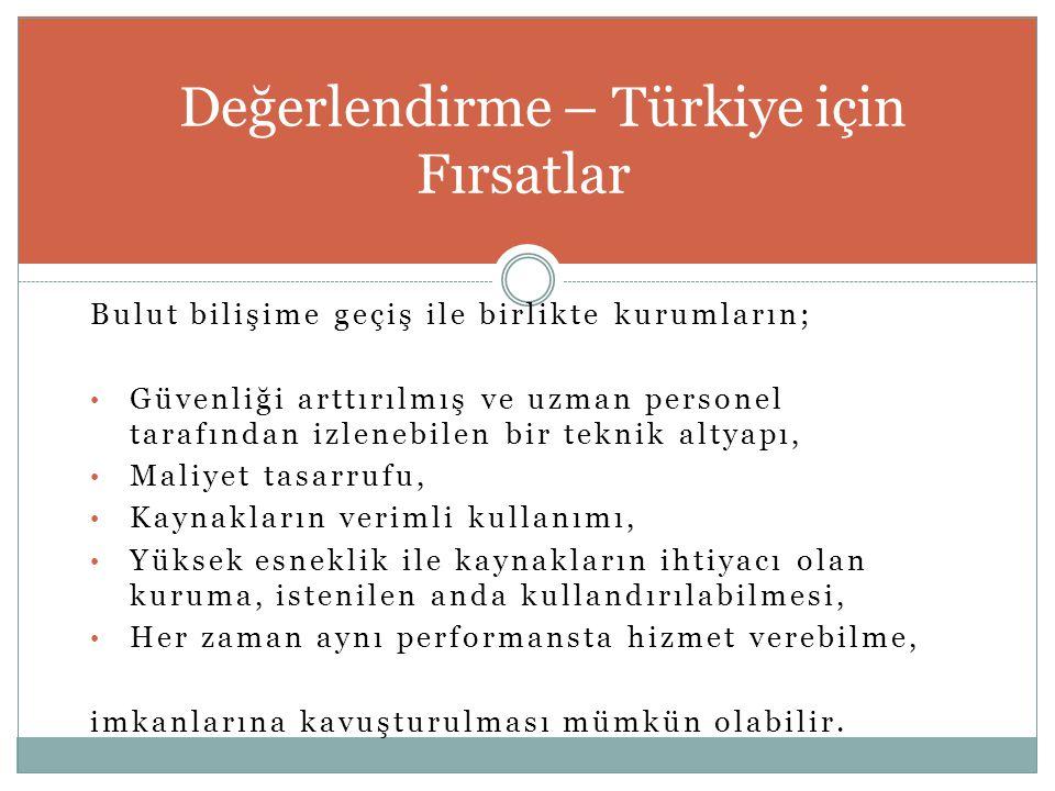 Değerlendirme – Türkiye için Fırsatlar
