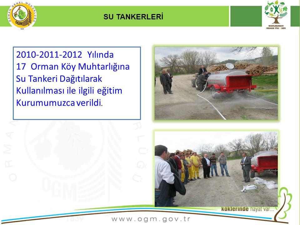 17 Orman Köy Muhtarlığına Su Tankeri Dağıtılarak