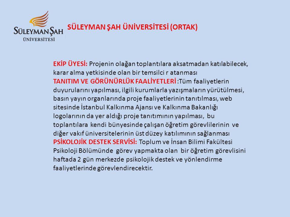 SÜLEYMAN ŞAH ÜNİVERSİTESİ (ORTAK)