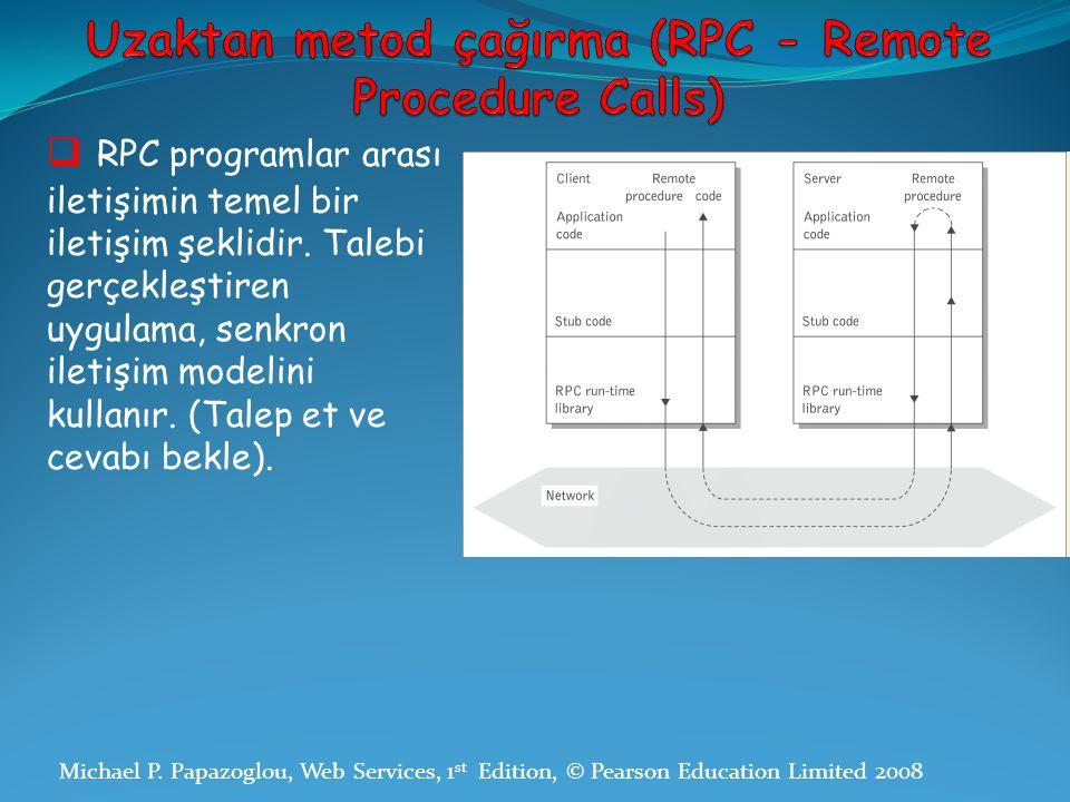 Uzaktan metod çağırma (RPC - Remote Procedure Calls)