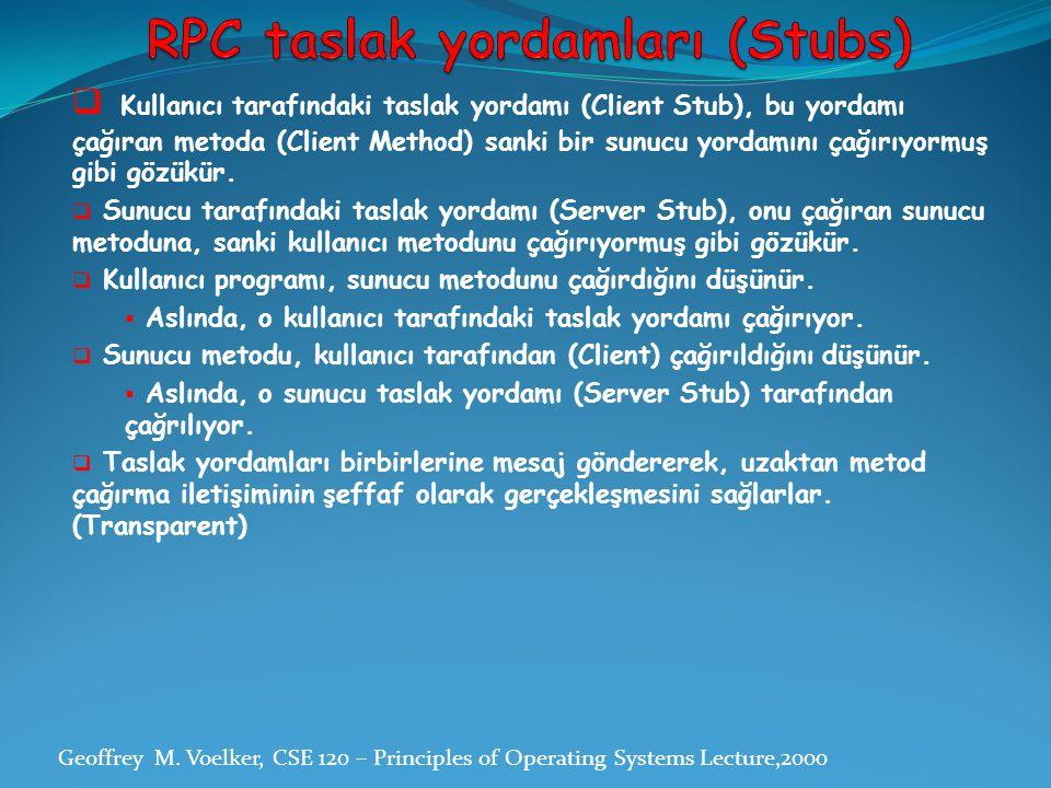 RPC taslak yordamları (Stubs)