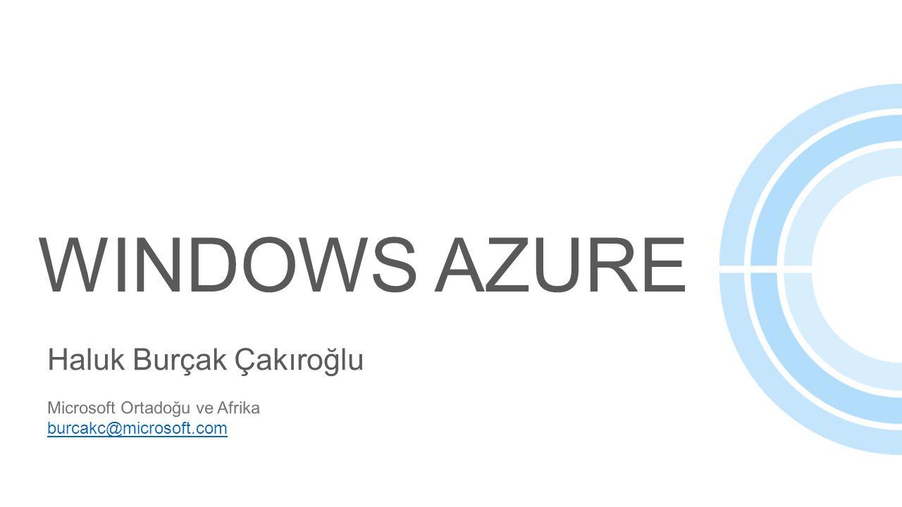 WINDOWS Azure Haluk Burçak Çakıroğlu Microsoft Ortadoğu ve Afrika
