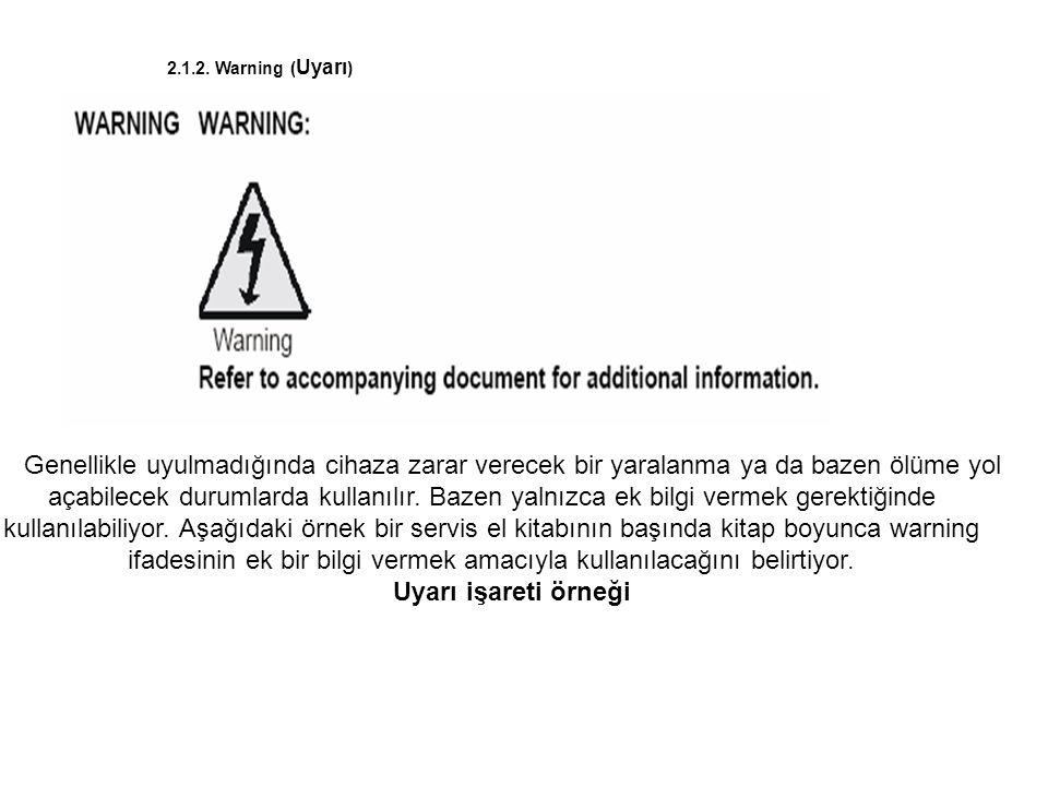 2.1.2. Warning (Uyarı)