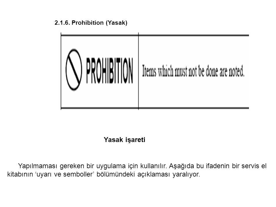 2.1.6. Prohibition (Yasak) Yasak işareti.