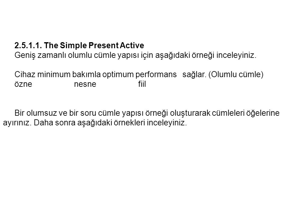 The Simple Present Active