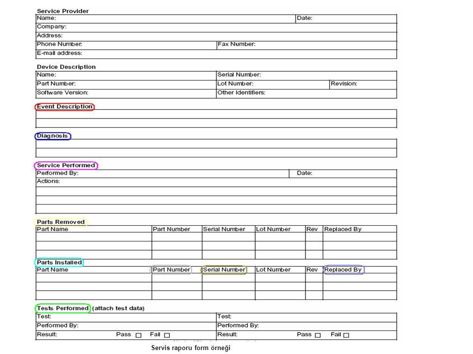 . Servis raporu form örneği