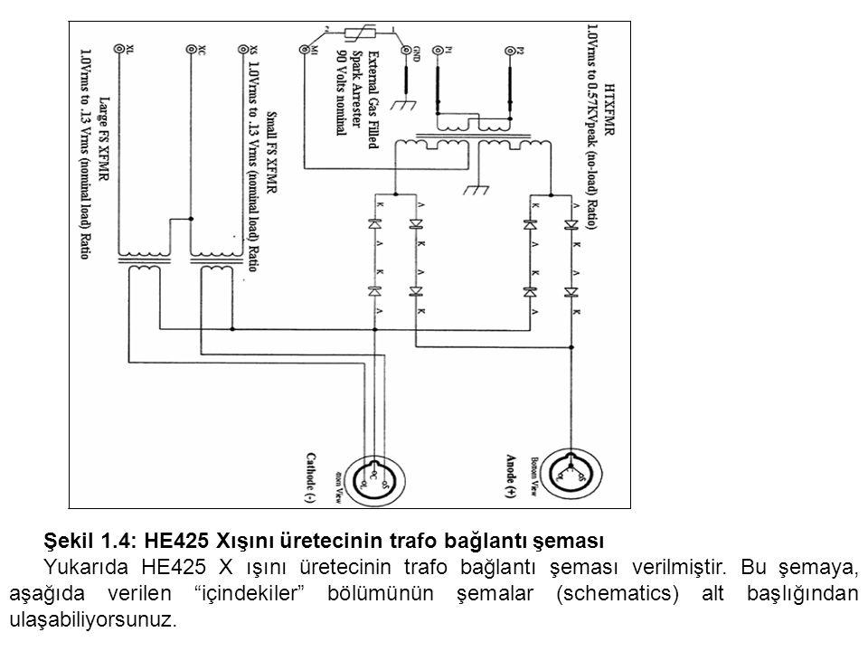 Şekil 1.4: HE425 Xışını üretecinin trafo bağlantı şeması