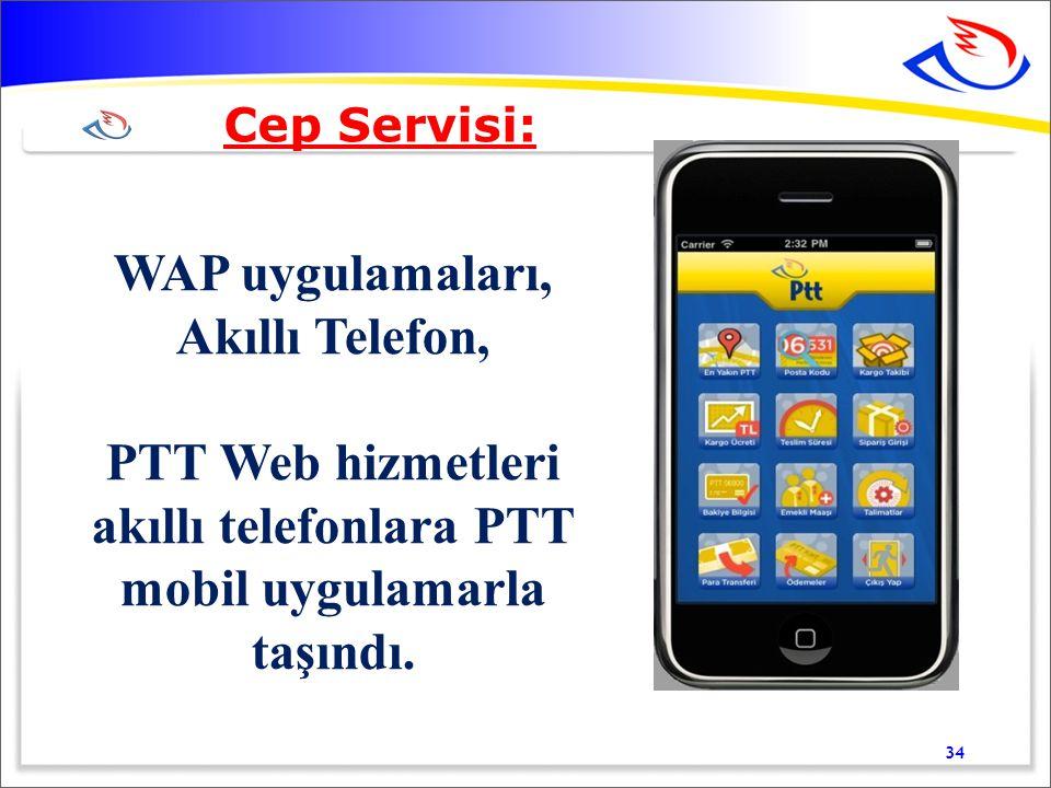 PTT Web hizmetleri akıllı telefonlara PTT mobil uygulamarla taşındı.