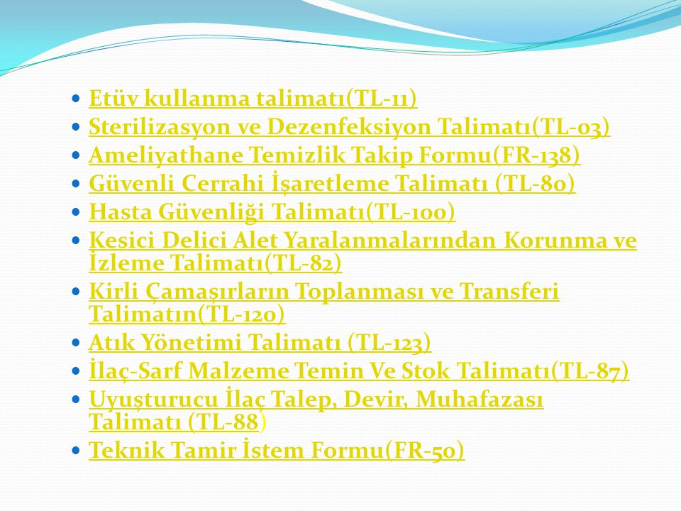 Etüv kullanma talimatı(TL-11)