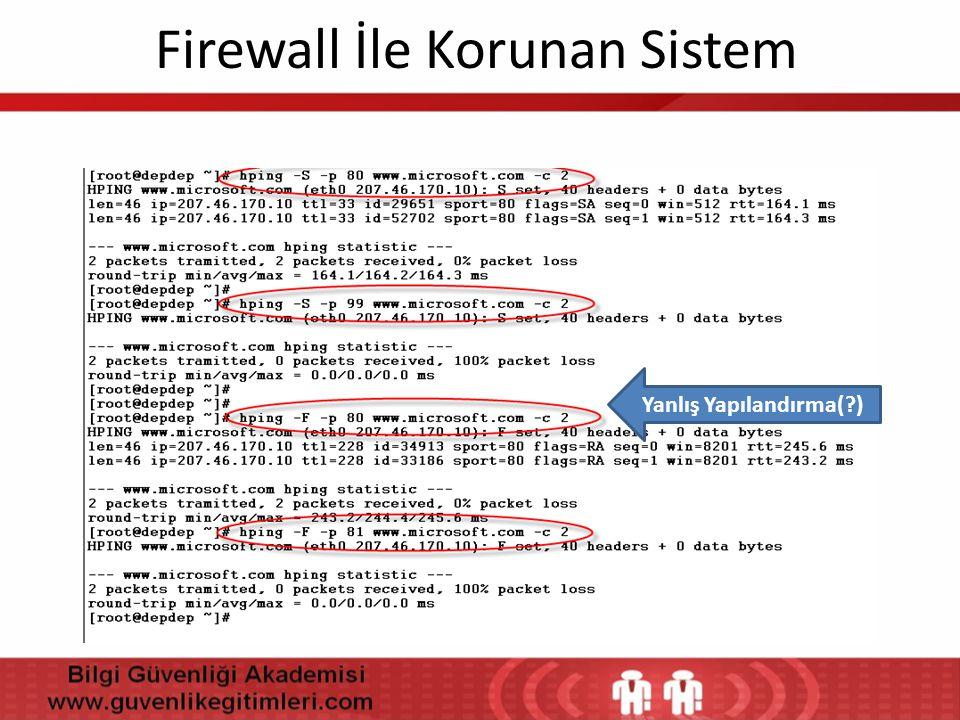 Firewall İle Korunan Sistem