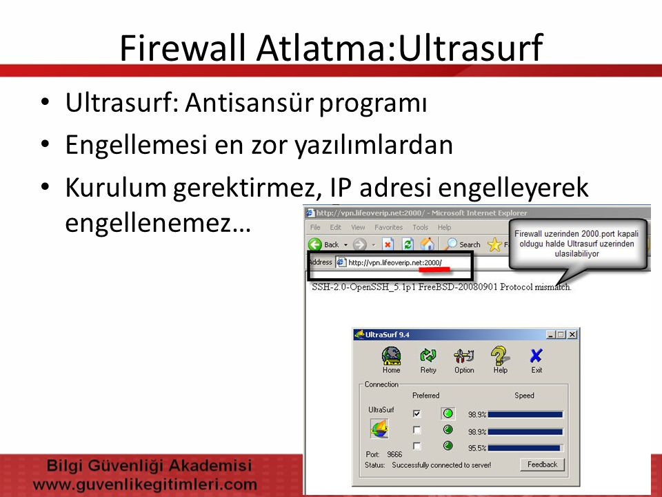 Firewall Atlatma:Ultrasurf