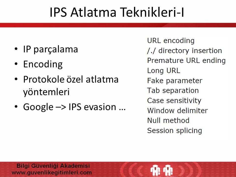 IPS Atlatma Teknikleri-I