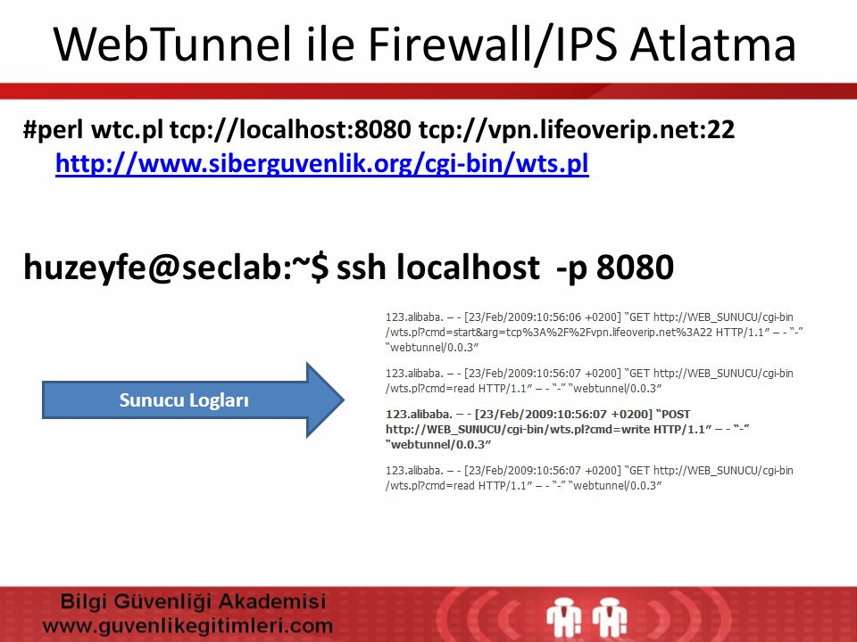 WebTunnel ile Firewall/IPS Atlatma