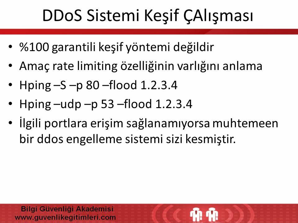 DDoS Sistemi Keşif ÇAlışması