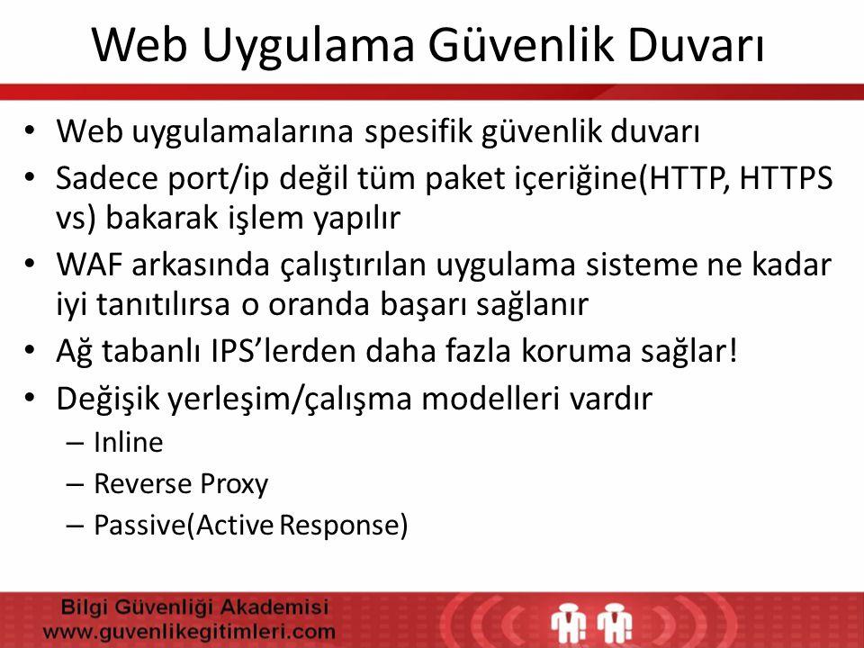 Web Uygulama Güvenlik Duvarı