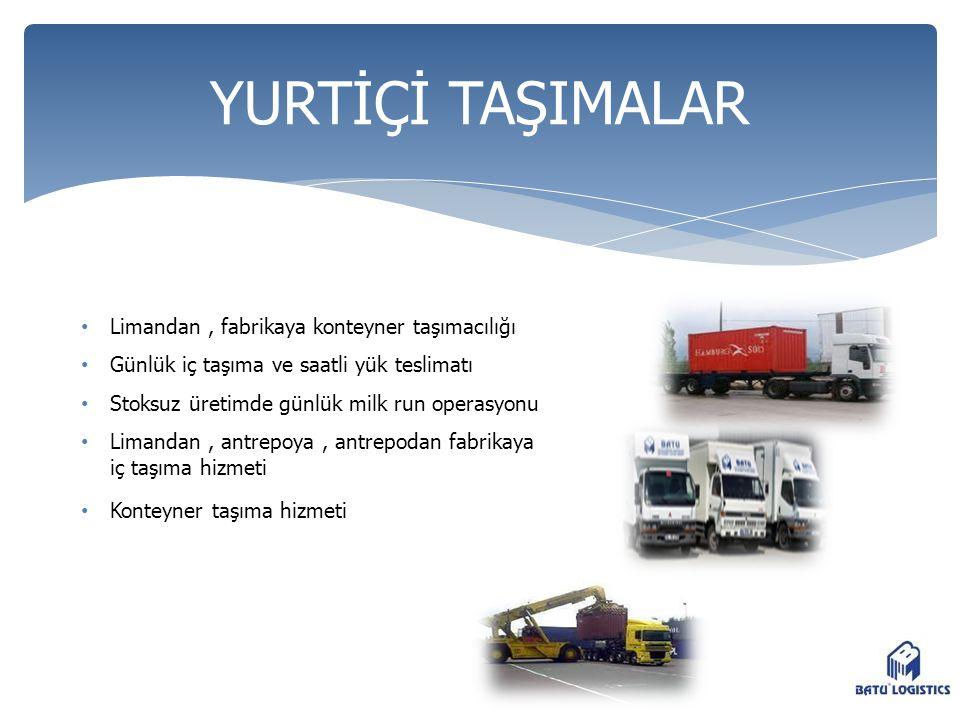 YURTİÇİ TAŞIMALAR Limandan , fabrikaya konteyner taşımacılığı