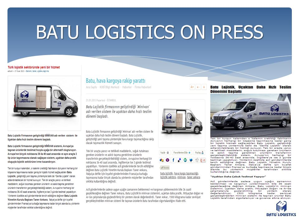 BATU LOGISTICS ON PRESS
