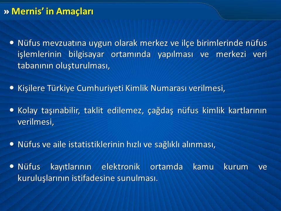 Kişilere Türkiye Cumhuriyeti Kimlik Numarası verilmesi,
