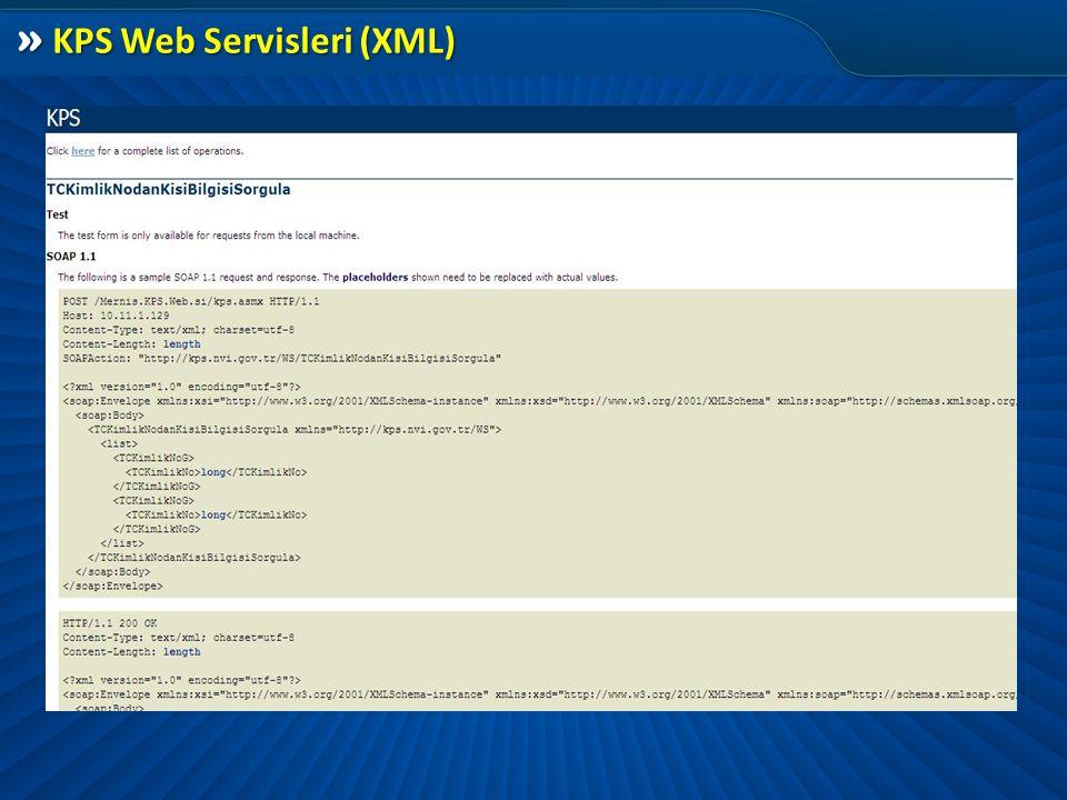 » KPS Web Servisleri (XML)