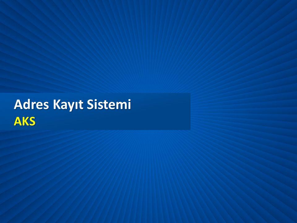 Adres Kayıt Sistemi AKS