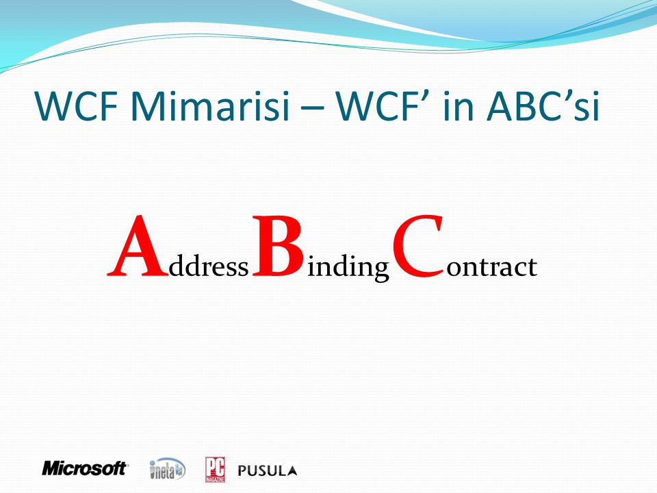 WCF Mimarisi – WCF' in ABC'si