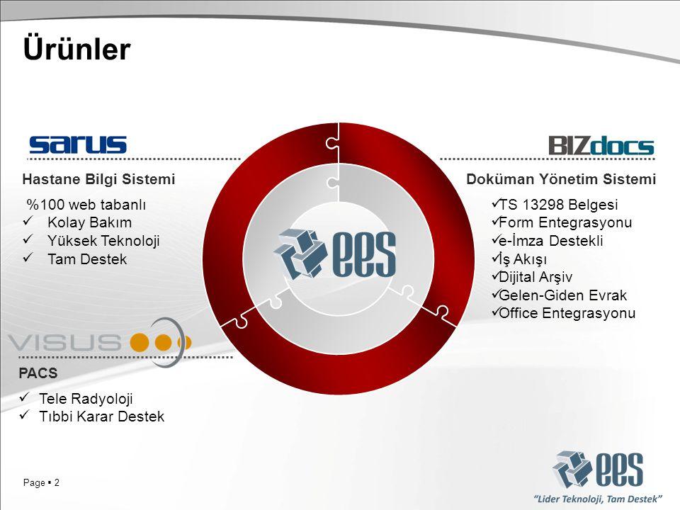 Ürünler Hastane Bilgi Sistemi Doküman Yönetim Sistemi %100 web tabanlı
