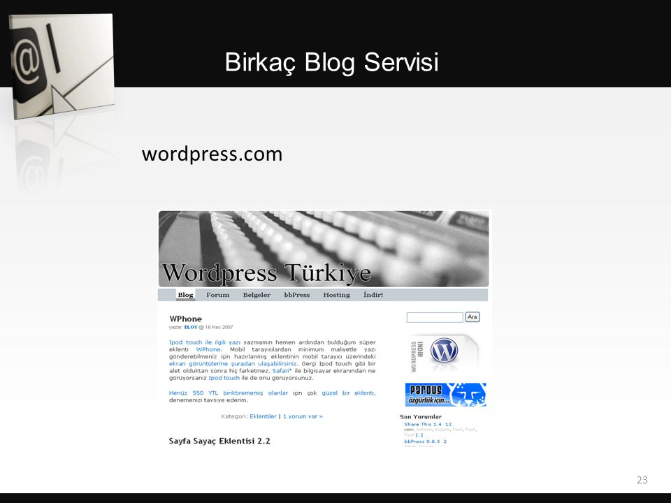 Birkaç Blog Servisi wordpress.com