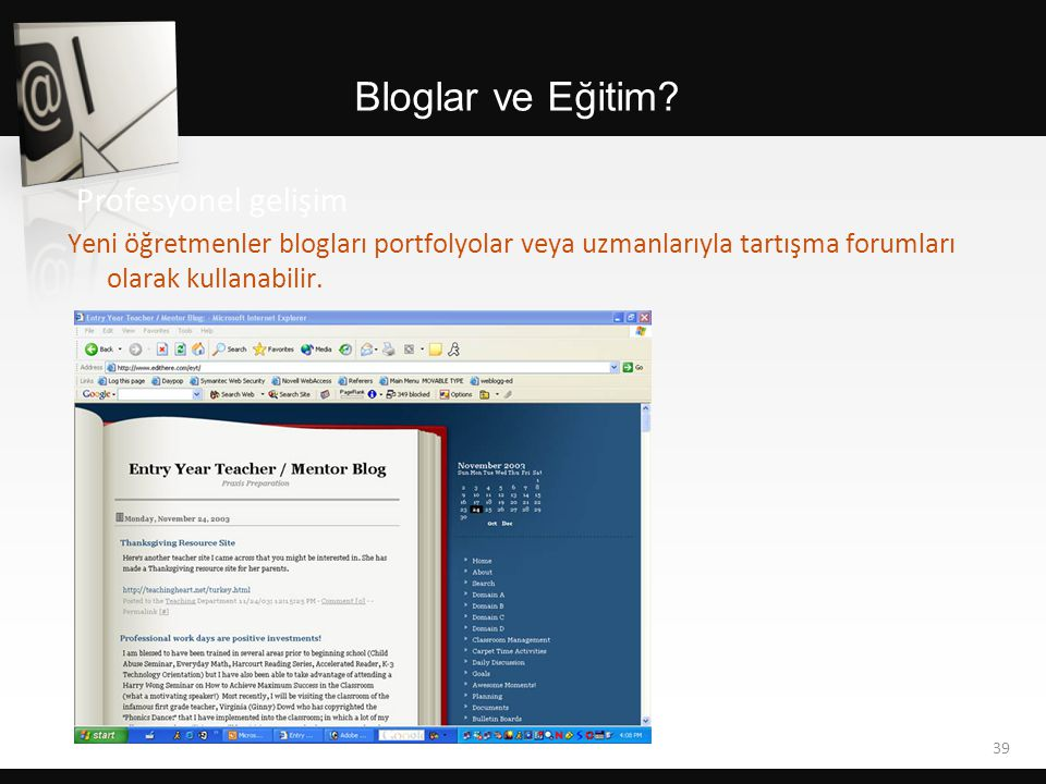 Bloglar ve Eğitim Profesyonel gelişim